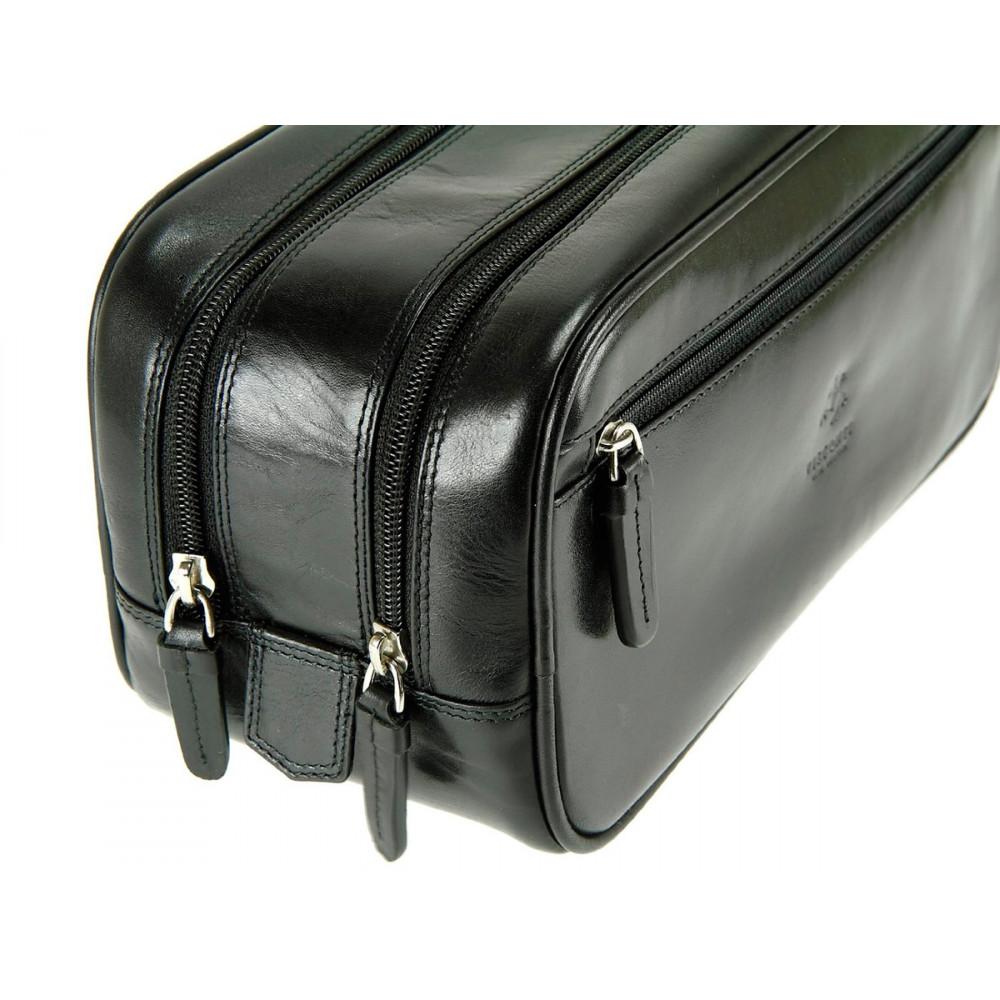 Мужской кожаный несессер Visconti MZ100 - Naples (black)