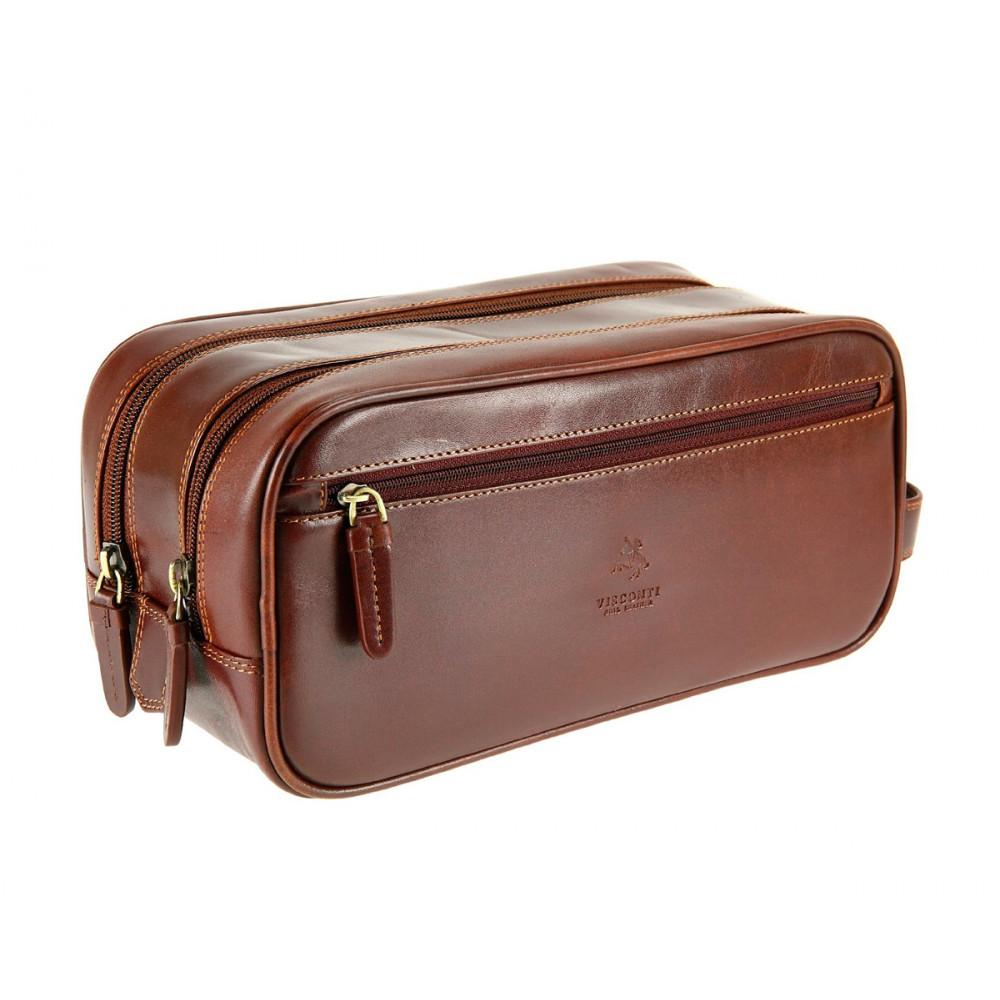 Мужской кожаный несессер Visconti MZ100 - Naples (brown)