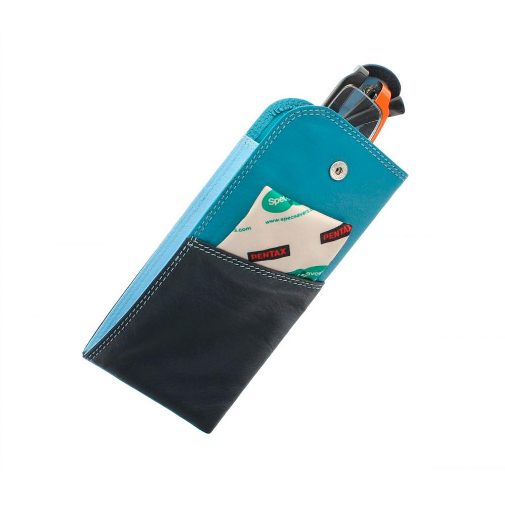 Кожаная чехол для очков Visconti RB106 - Belizei (blue multi)