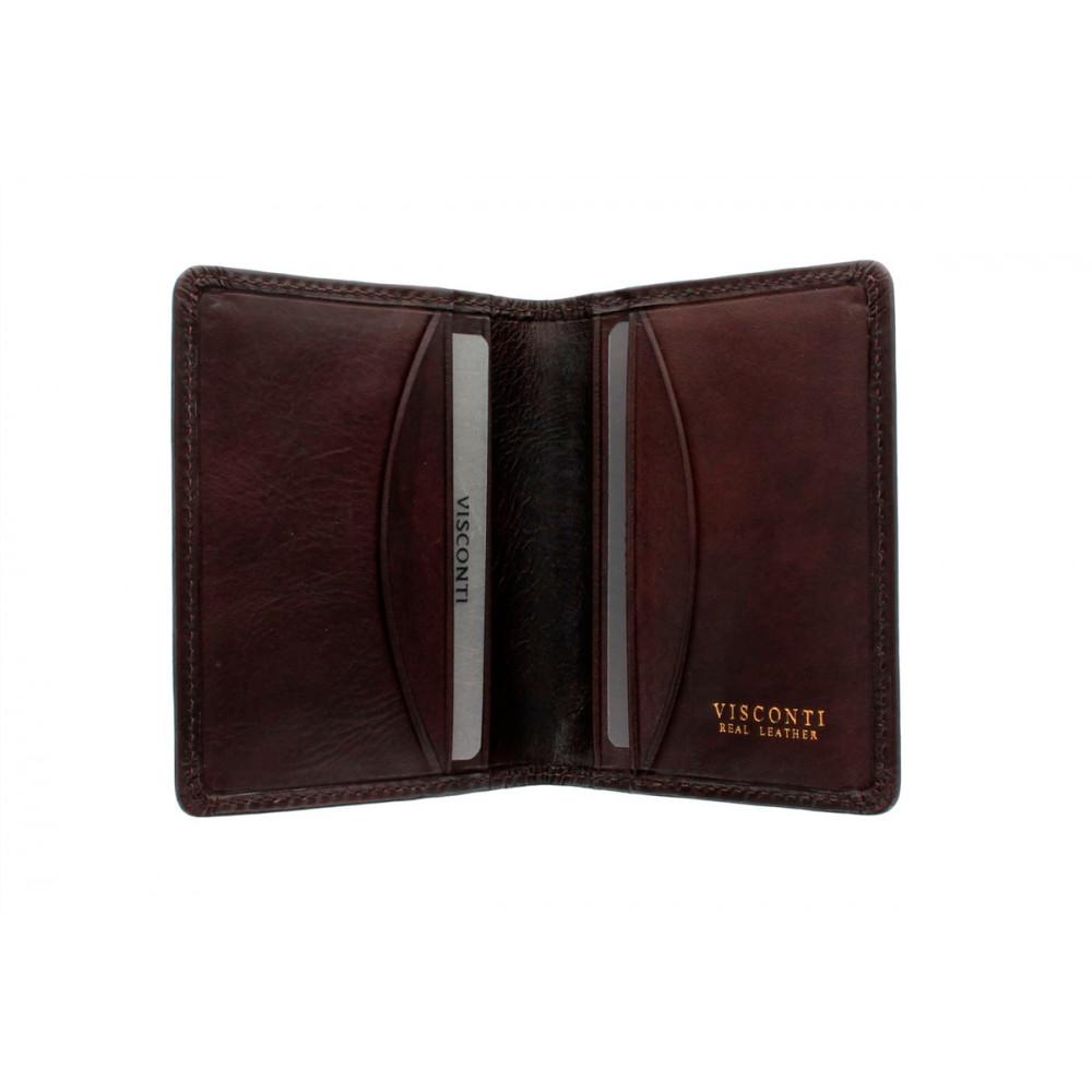 Кожаная кредитница-визитница с RFID Visconti TSC40 - Camper (brown)