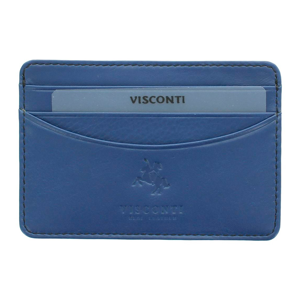 Кожаная кредитница Visconti VSL25 с RFID - (cobalt)