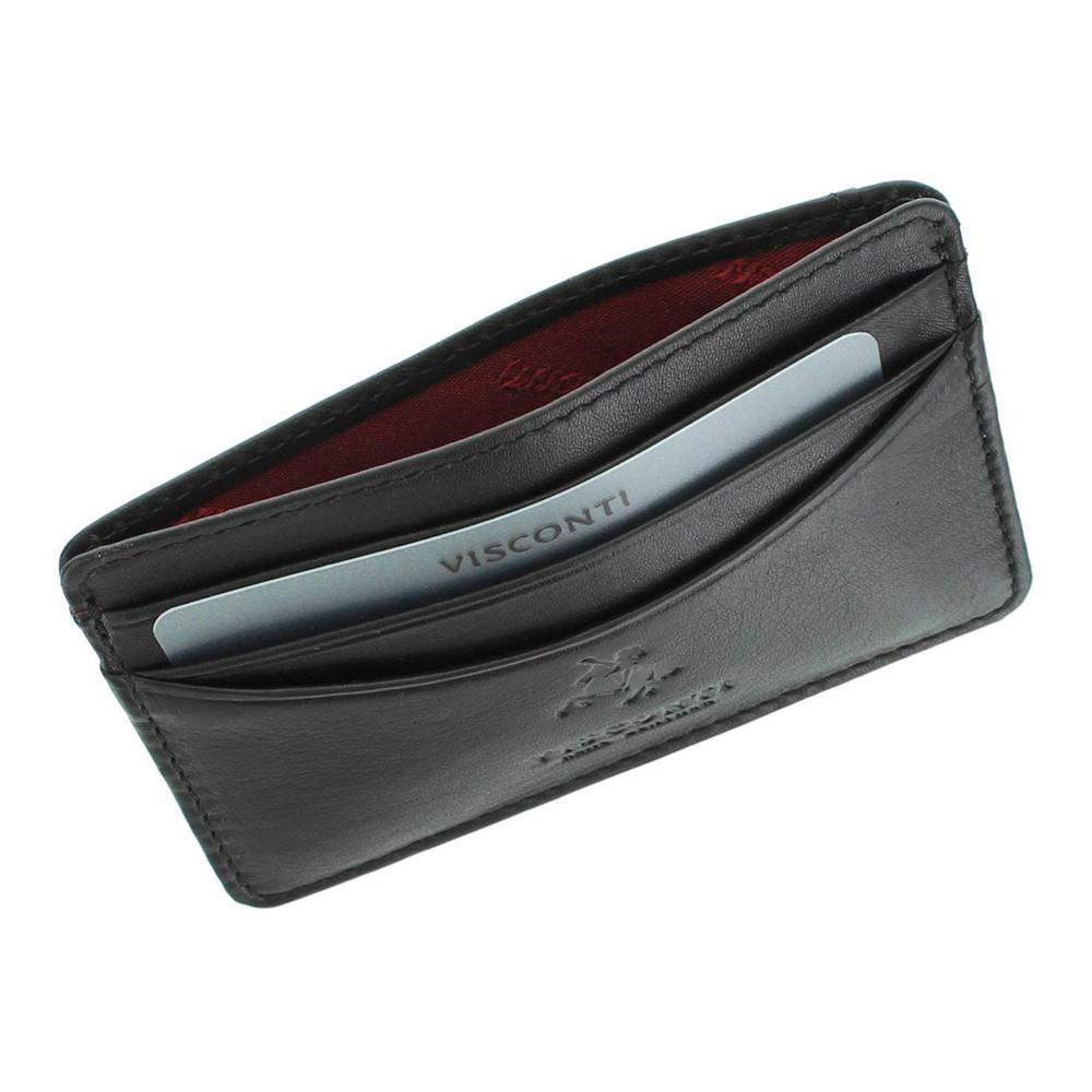 Кожаная кредитница Visconti VSL25 с RFID - (black)