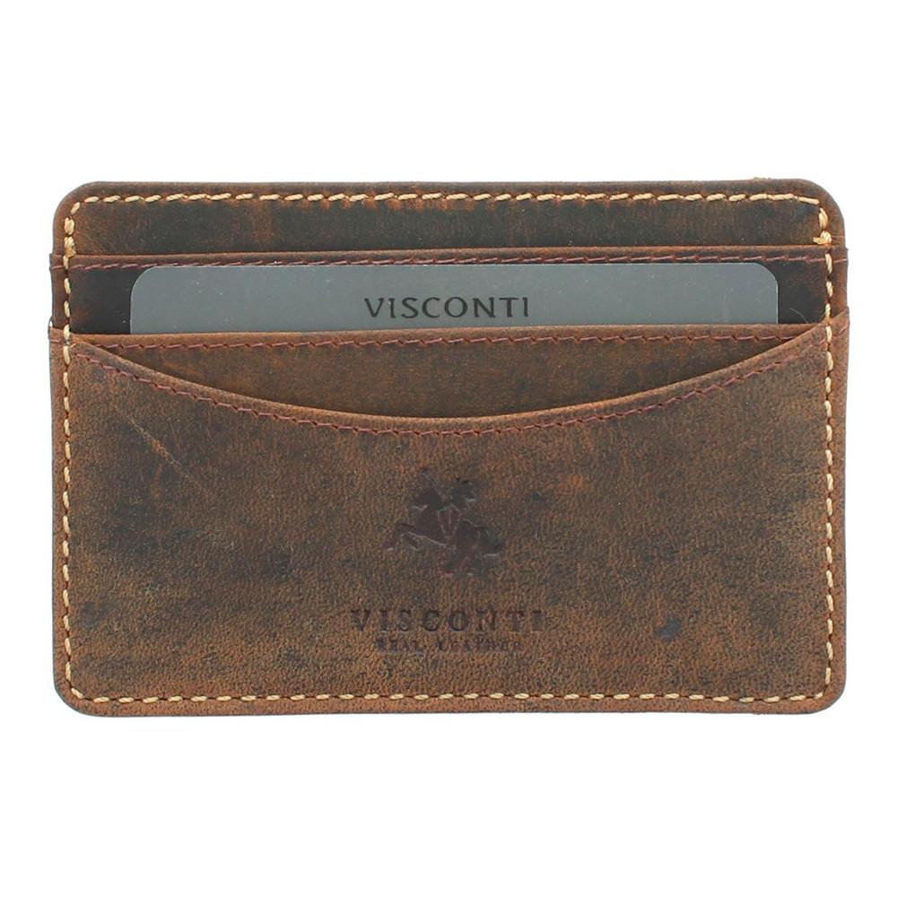 Кожаная кредитница Visconti VSL25 с RFID - (oil tan)