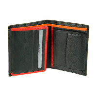 Кожаное мужское портмоне Visconti BD-22 - Dr. No (black/red/orange)
