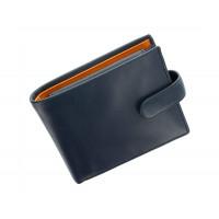 Мужской кожаный кошелек Visconti PM-102 - Leonardo (blue/must)
