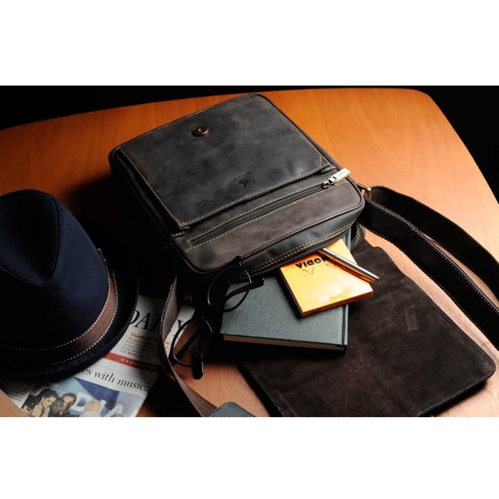 Мужская кожаная сумка Visconti 16011 - Link (oil brown)