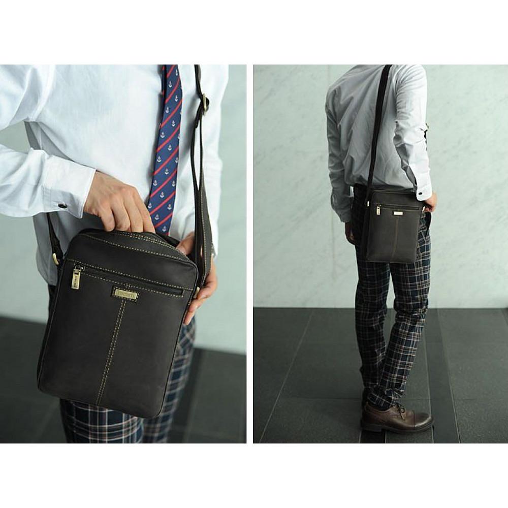 Мужская кожаная сумка Visconti 16050 - Drew (oil brown)