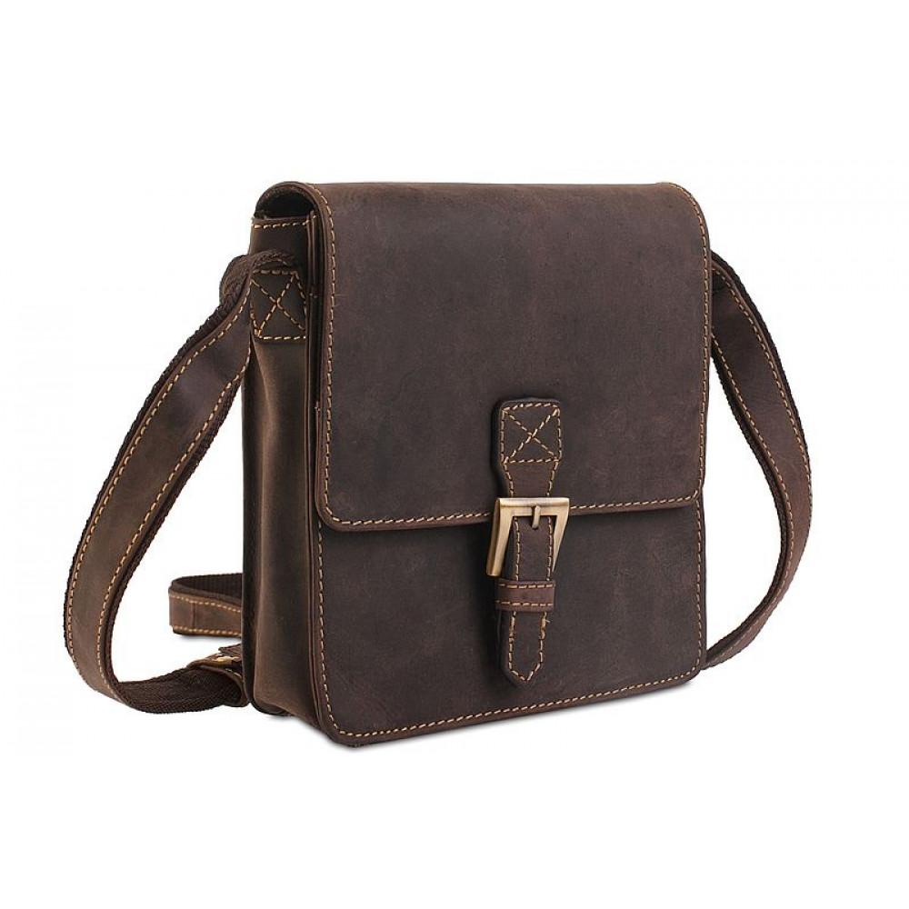 Мужская кожаная сумка Visconti 18722 - Roca (oil brown)