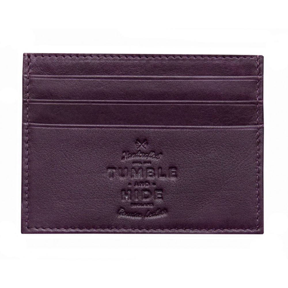 Кожаная кредитница(кардхолдер) Tumble & Hide - 5028 17 (purple)