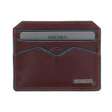 Кожаная кредитница-кардхолдер Visconti ALP83 - Louis (italian brown)
