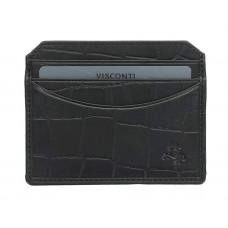Кожаная кредитница-кардхолдер Visconti CR90 - Scale (black)