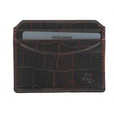 Кожаная кредитница-кардхолдер Visconti CR90 - Scale (brown)