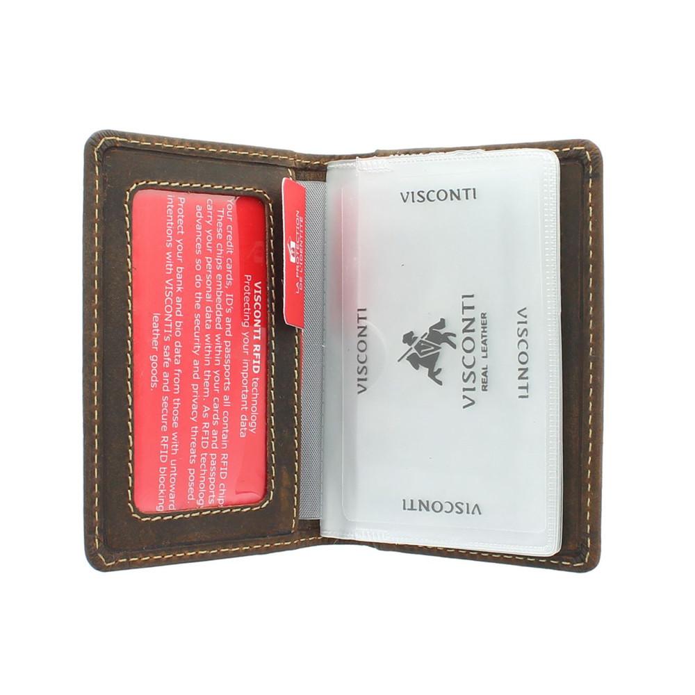 Кожаная кредитница Visconti VSL24 с RFID - (oil tan)