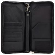 Черный кошелек для путешествий (тревелер) Visconti 1157 Polo - (Black)