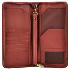 Коричневый кошелек для путешествий (тревелер) Visconti 1157 Polo (Brown)
