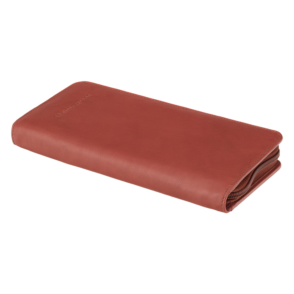 Коричневый кожаный кошелек для путешествий (тревелер) Visconti 1157 Polo (Brown)