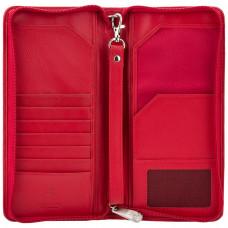 Кожаный клатч-тревелер Visconti 1157 (Red)