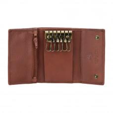 Кожаная ключница Visconti 1178 - (brown)