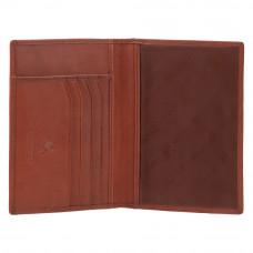 Кожаная обложка для паспорта из натуральной кожи Visconti 2201 - Polo (brown)