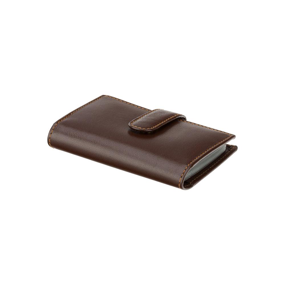 Кожаная визитница Visconti 484 - Gio (brown)