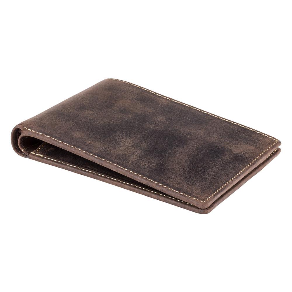 Мужской кожаный кошелек для путешествий Visconti 726 - Jet (oil brown)