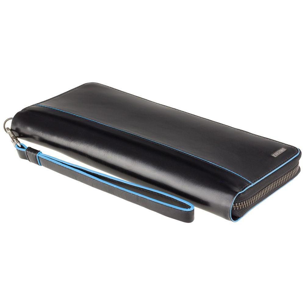 Мужской клатч (тревелер) Visconti ALP89 с RFID Alfred (Italian Black)
