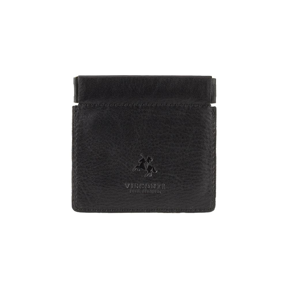 Кожаная монетница Visconti CP7 - (black)