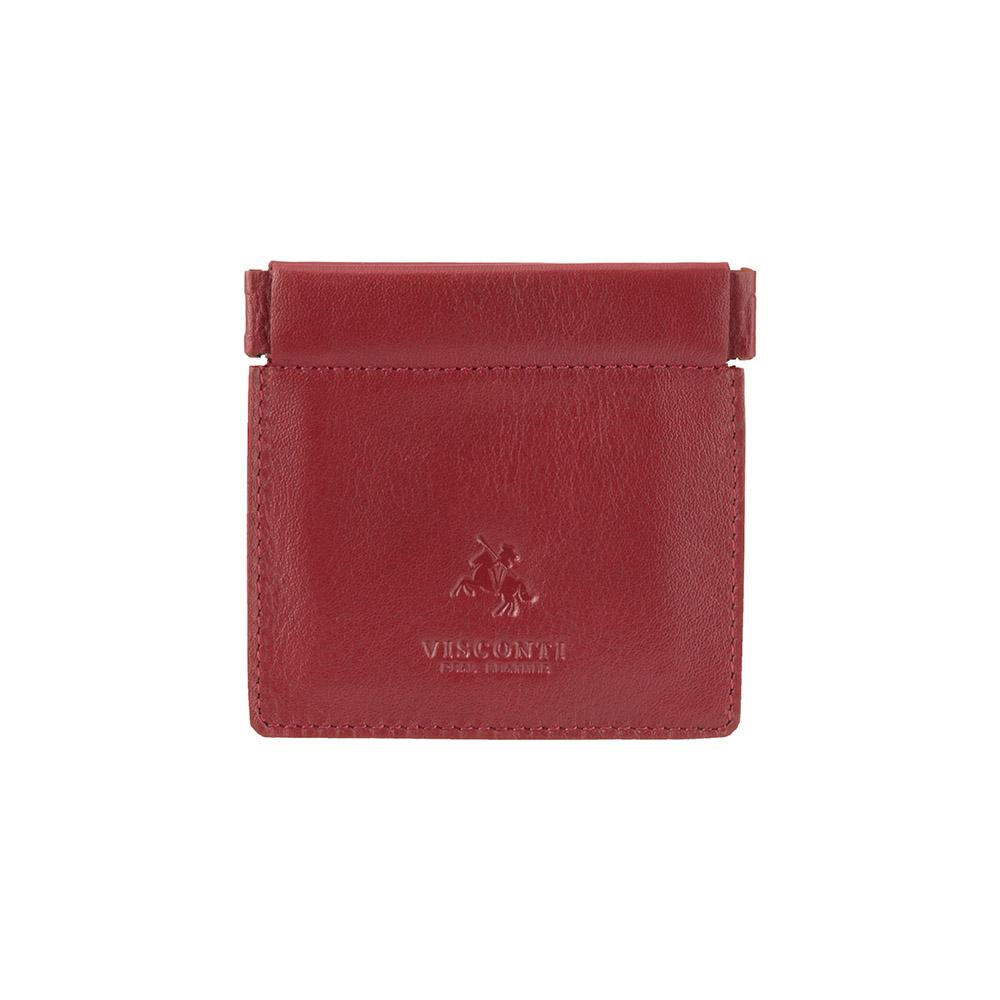Кожаная монетница Visconti CP7 - (red)