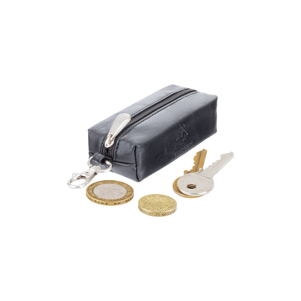 Кожаная ключница Visconti MZ18 - Prato (black)