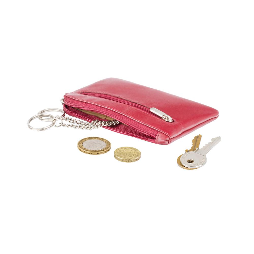 Кожаная ключница Visconti MZ19 - Geno (red)