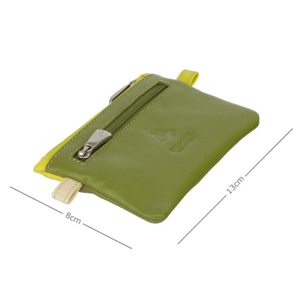 Кожная ключница Visconti CP2 Cora (Lime Multi)