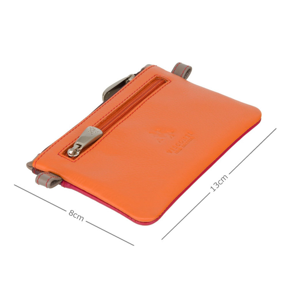 Кожная ключница Visconti CP2 Cora (Orange Multi)