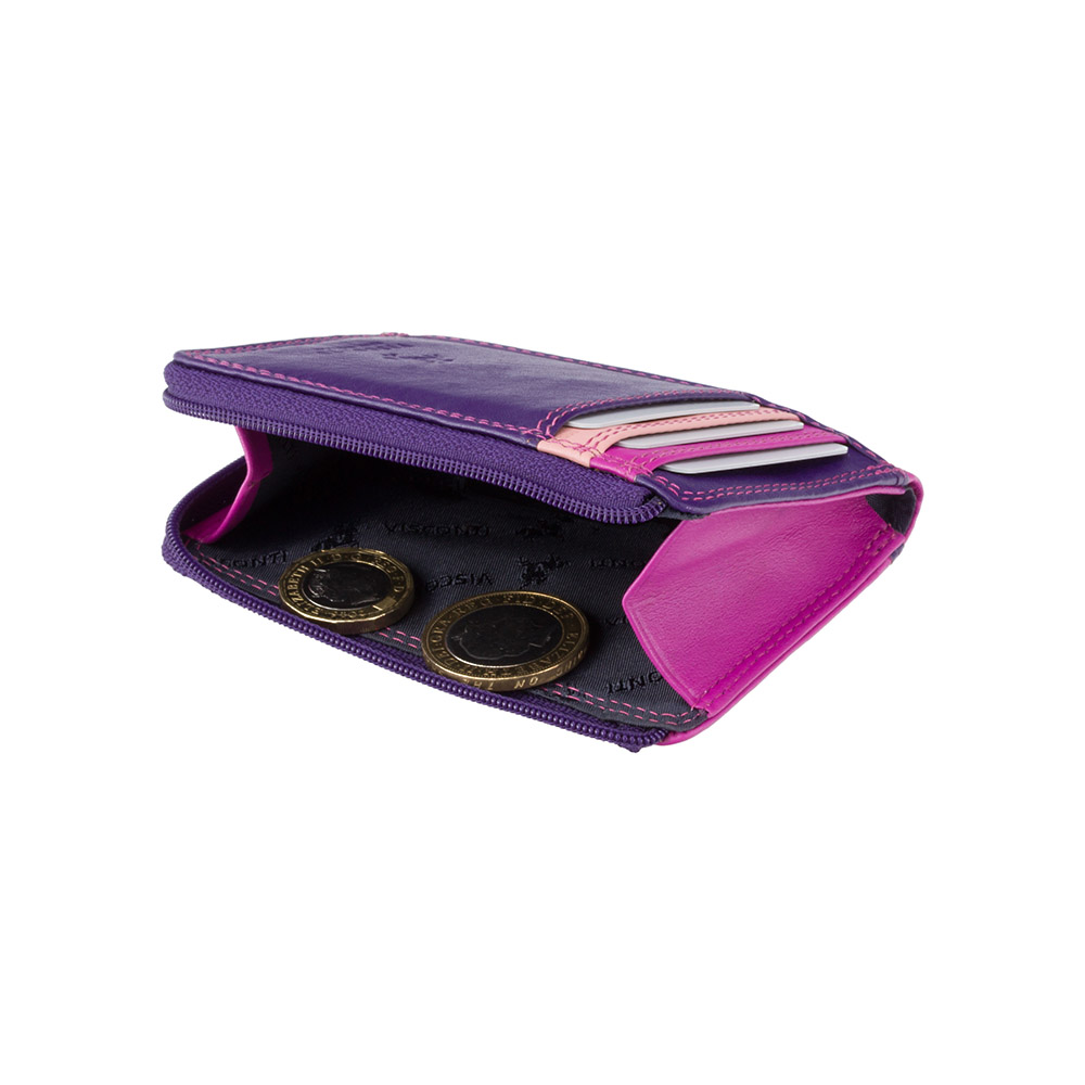 Маленький женский кошелек Vіsconti RB110 - Phi Phi (Berry Multi)