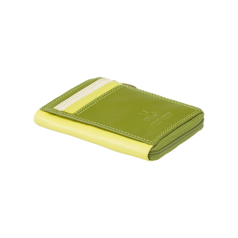 Маленький женский кошелек Vіsconti RB110 - Phi Phi (Lime Multi)