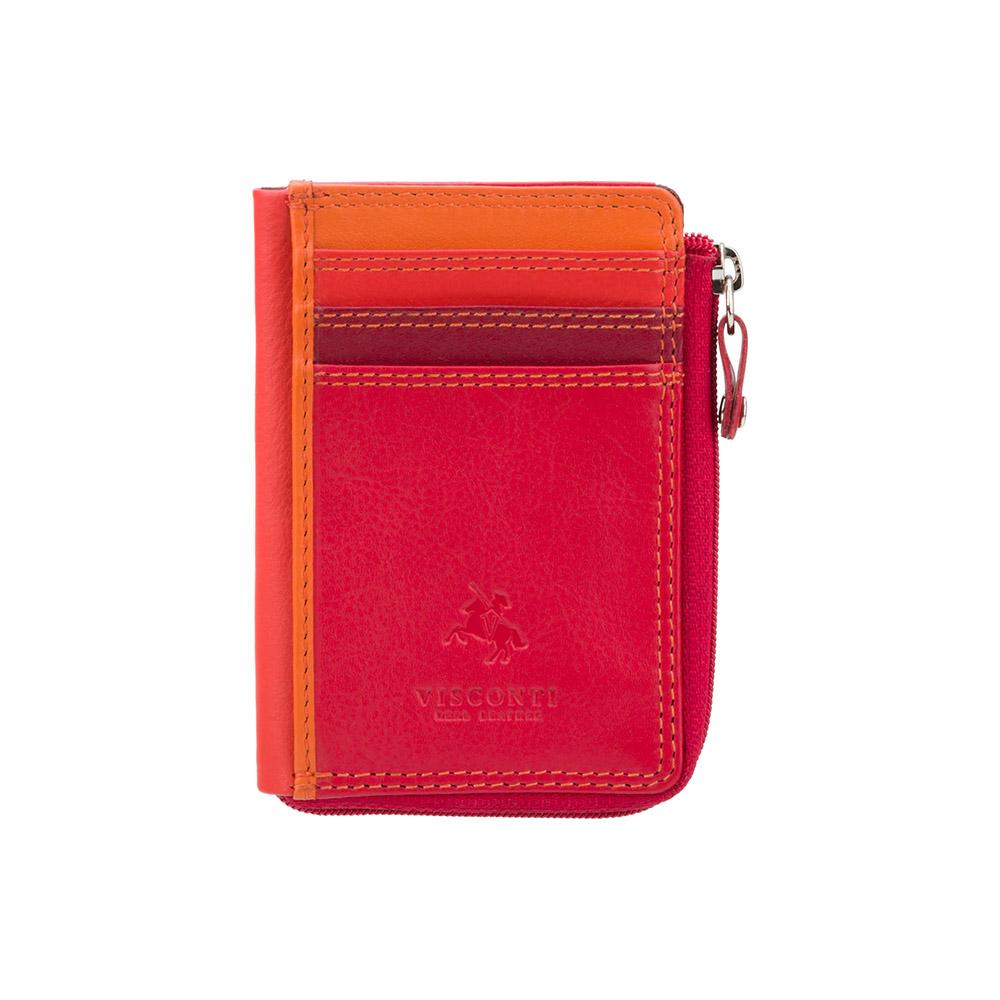Маленький женский кошелек Vіsconti RB110 - Phi Phi (Red Multi)