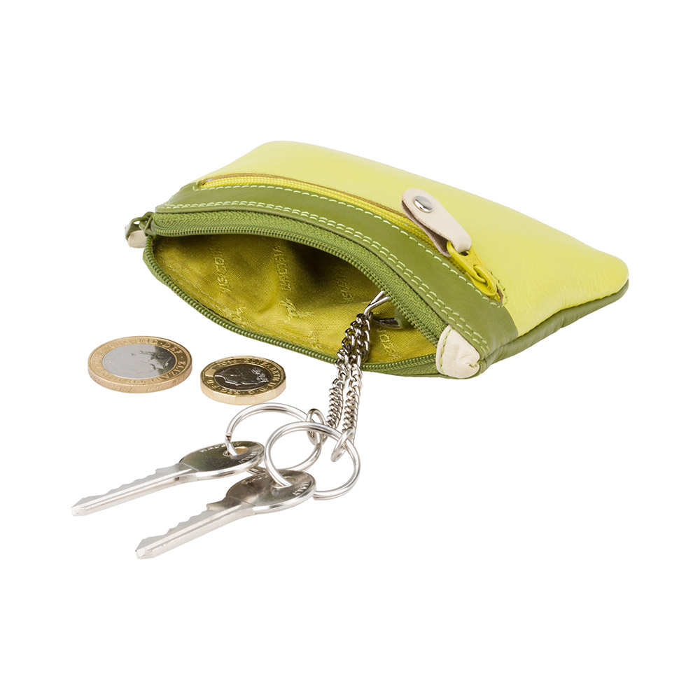 Кожная ключница Visconti RB69 - Geno (lime multi)
