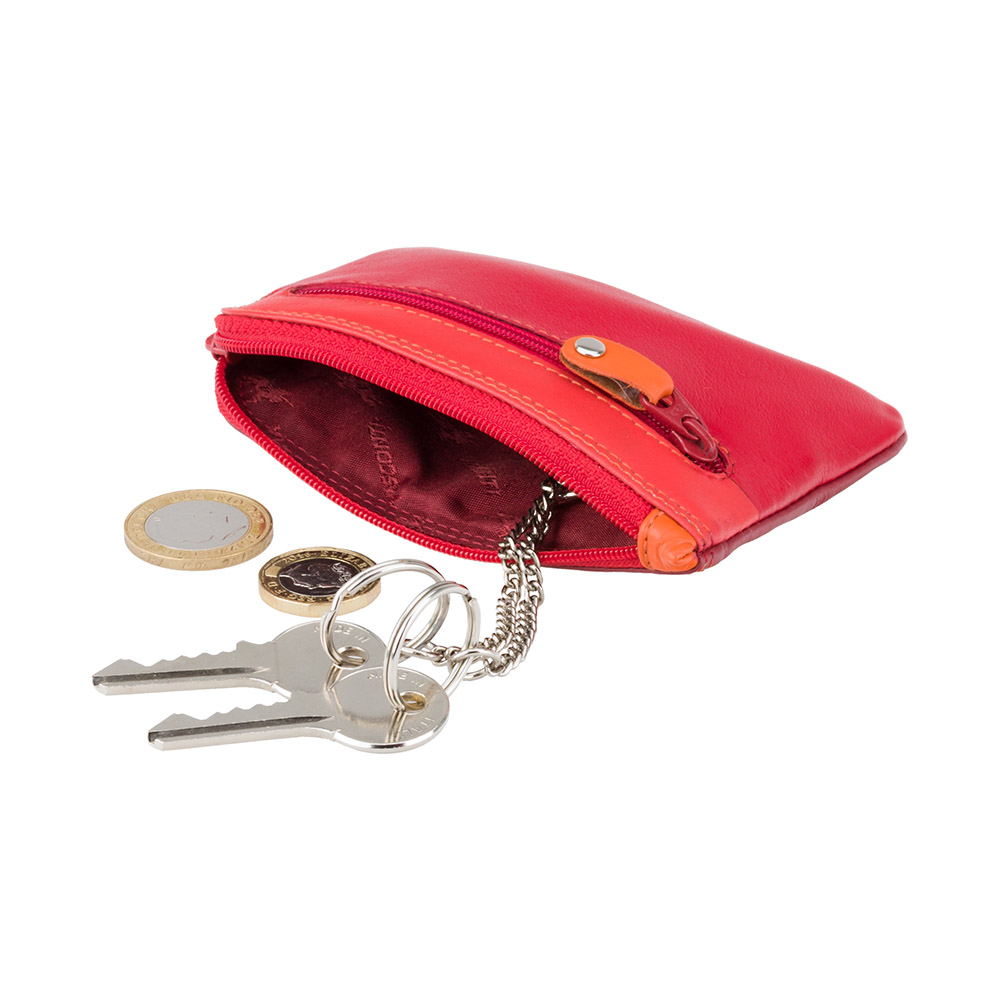 Кожная ключница Visconti RB69 - Geno (red multi)