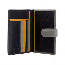 Кожаная обложка для паспорта Visconti RB75 Sumba (black multi)