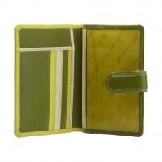 Кожаная обложка для паспорта Visconti RB75 - Sumba (lime multi)