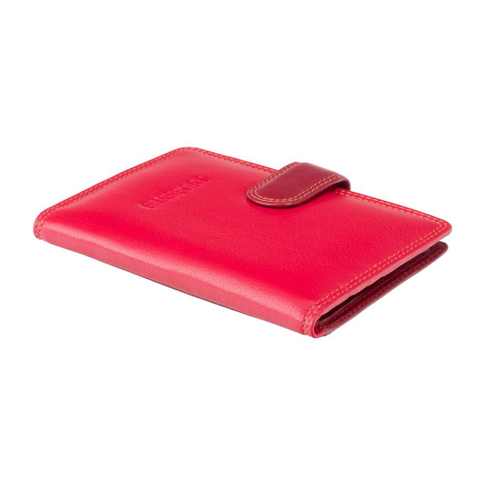Кожаная обложка для паспорта Visconti RB75 - Sumba (red multi)