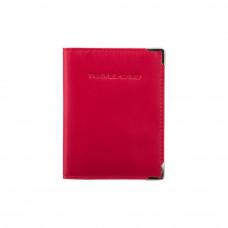 Кожаная обложка для автодокументов (евростандарт) Visconti TC5 - (red)