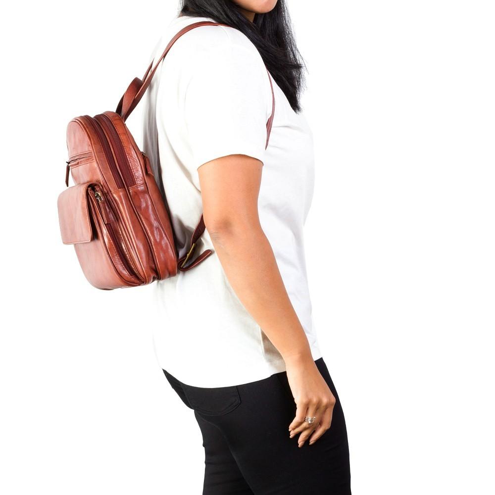Женский рюкзак Visconti 01433 - Gina (Brown)