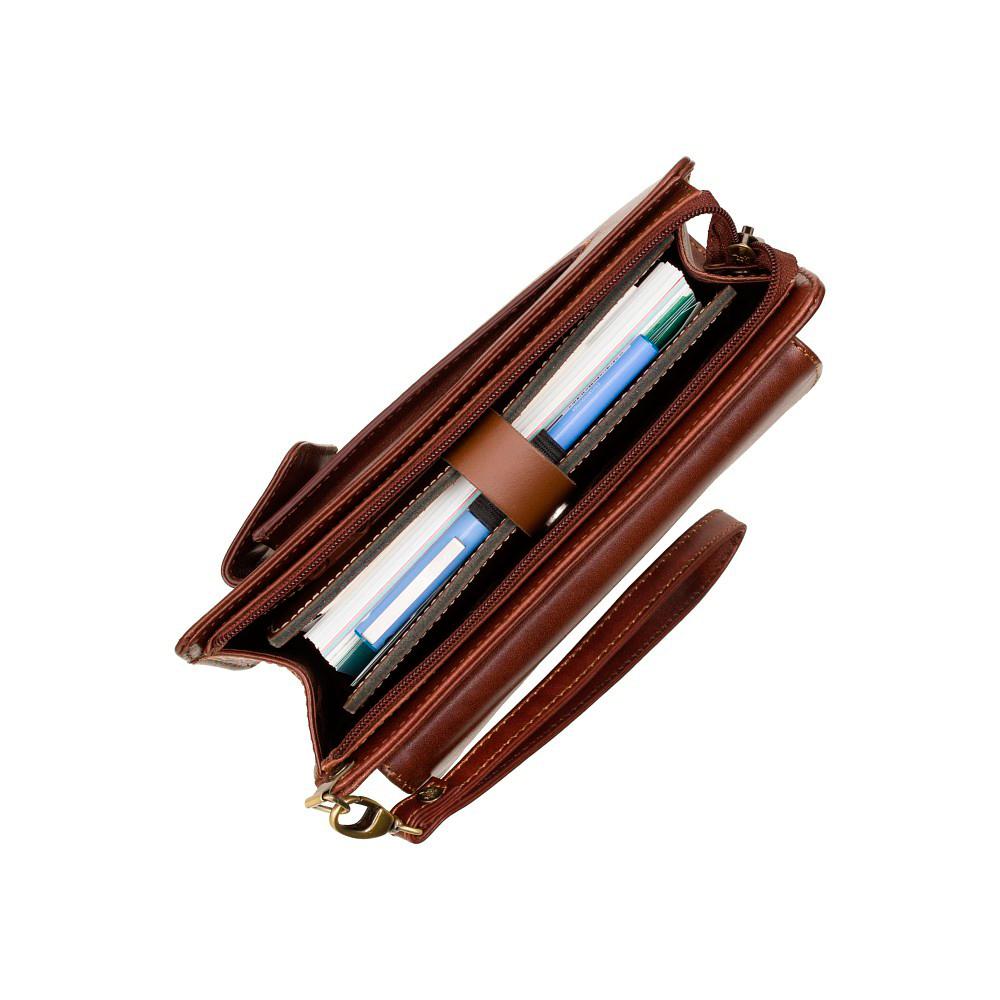 Мужская кожаная барсетка Visconti 02617 - Ted (brown)