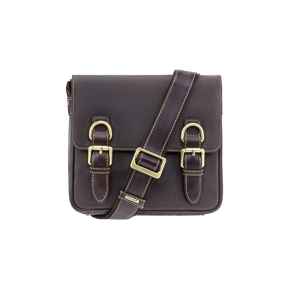 Мужская кожаная сумка Visconti 16012 - Rumba (Oil Brown)