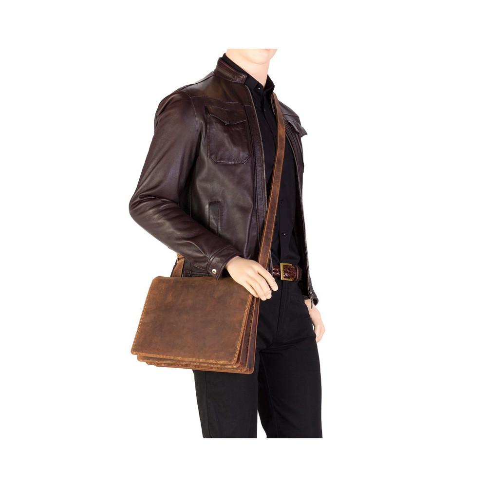 Мужская сумка-мессенджер Visconti 16025 – Harvard-М (Black)