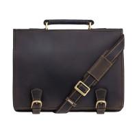 Мужской кожаный портфель Visconti 16134 - Hulk (oil brown)
