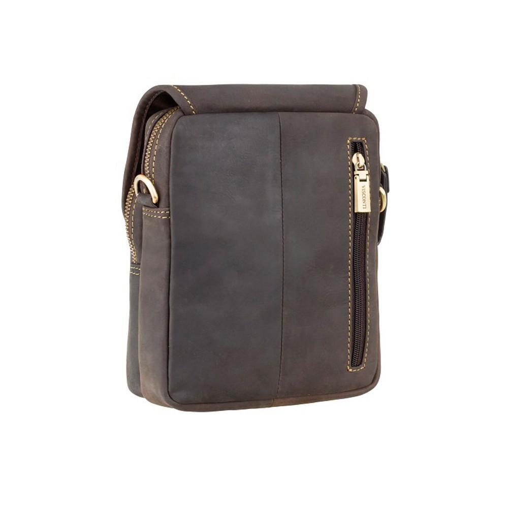 Мужская кожаная сумка через плечо Visconti 16208 - Jules (Oil Brown)