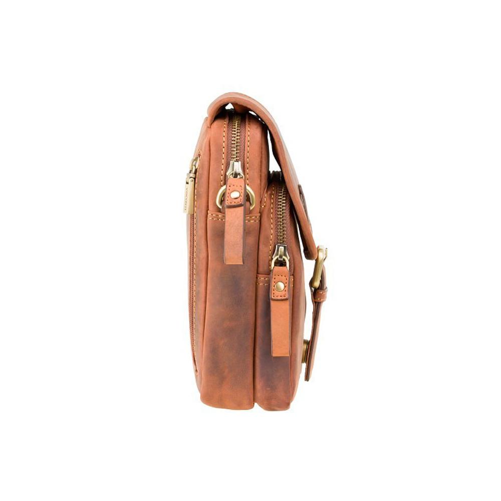 Мужская кожаная сумка через плечо Visconti 16208 - Jules (Oil Tan)