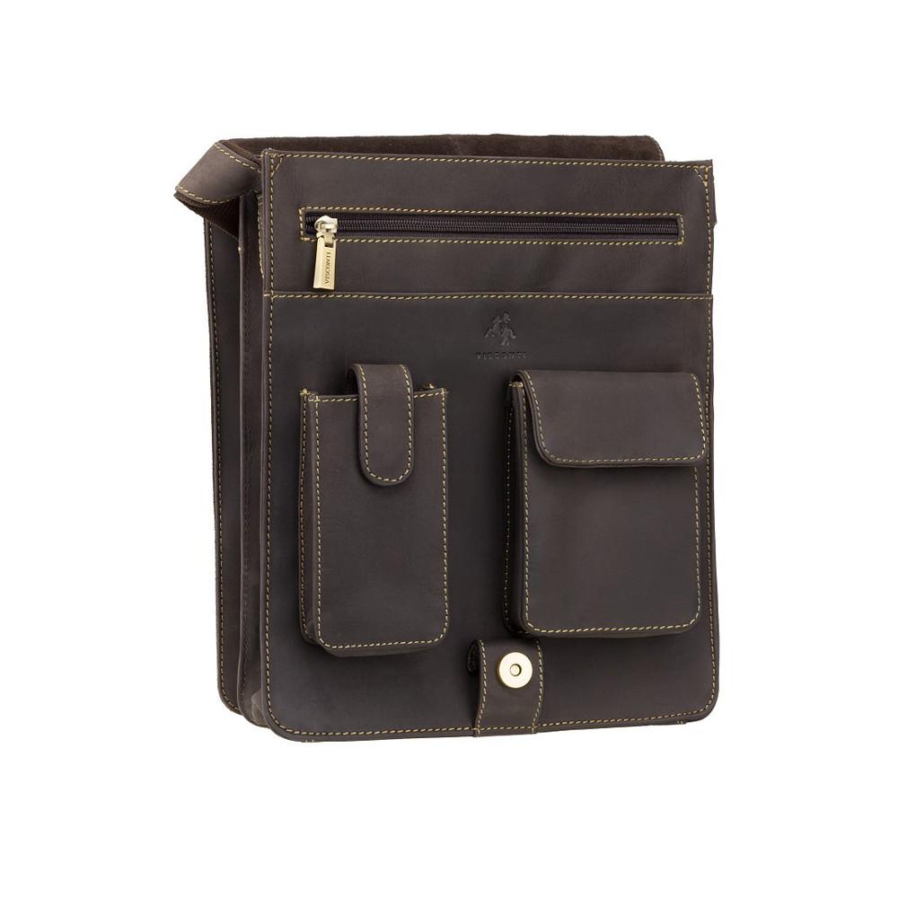 Мужская кожаная сумка Visconti 18410 Jasper (Oil Brown)