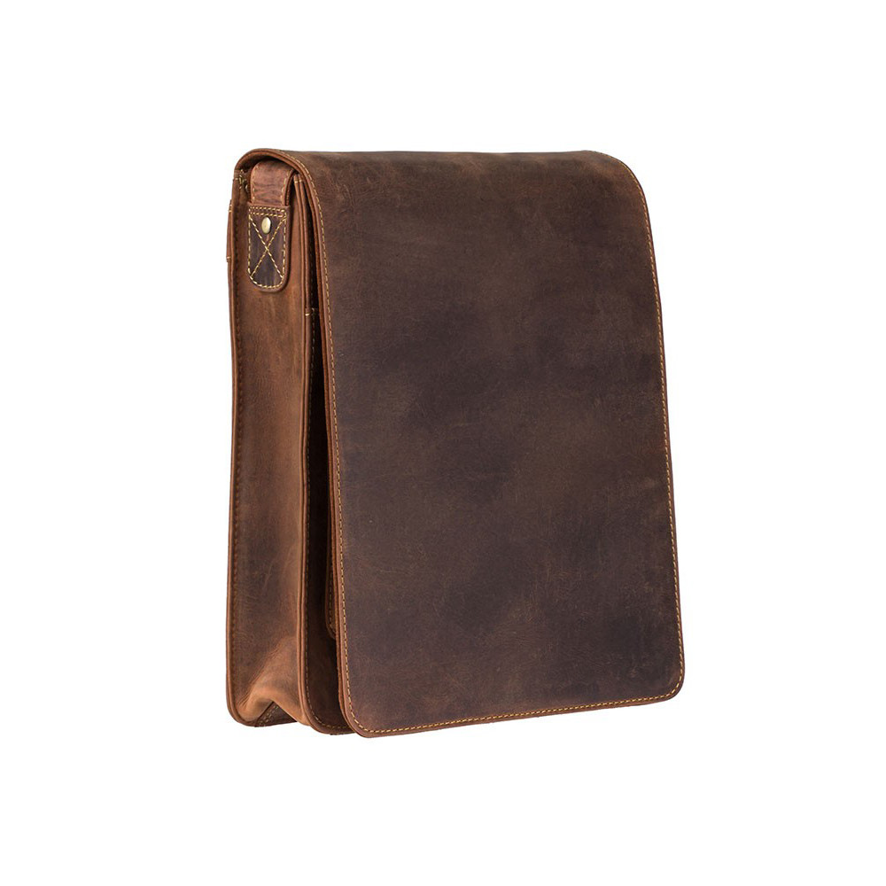 Мужская кожаная сумка-мессенджер Visconti 18410 - Jasper (Oil Tan)